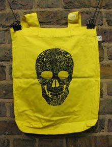 Black Skull on Yellow